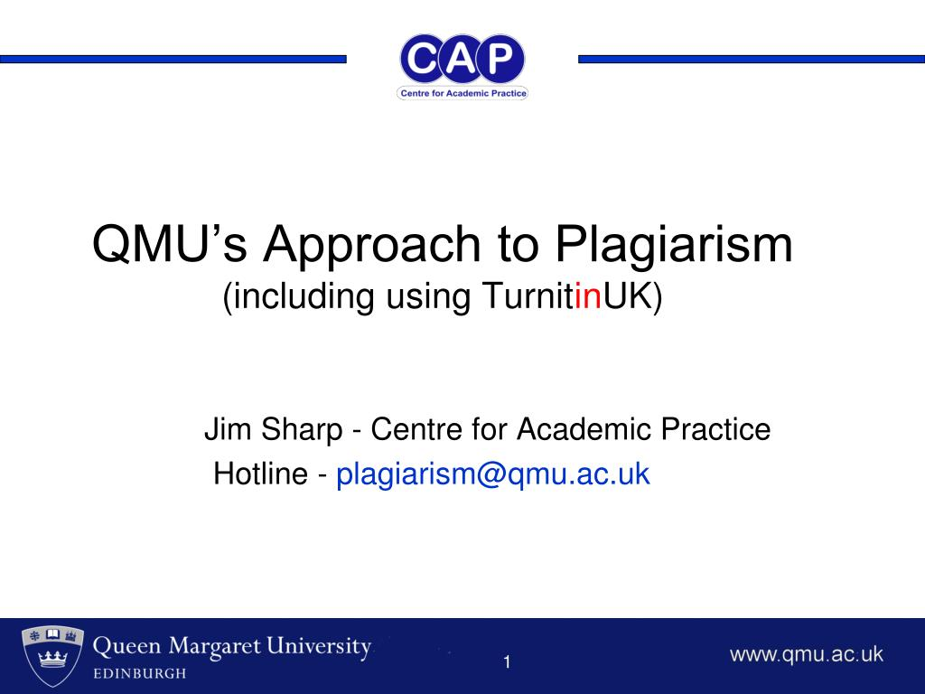 qmu s approach to plagiarism including using turnit in uk l.