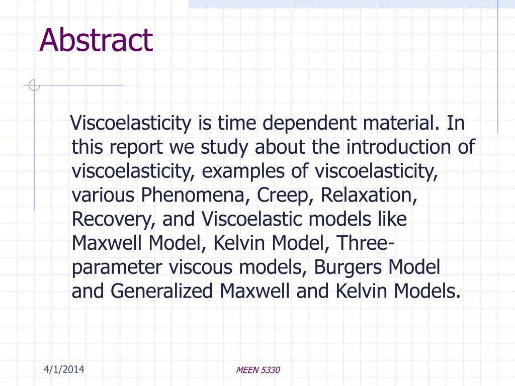 PPT - Viscoelasticity PowerPoint Presentation - ID:599246
