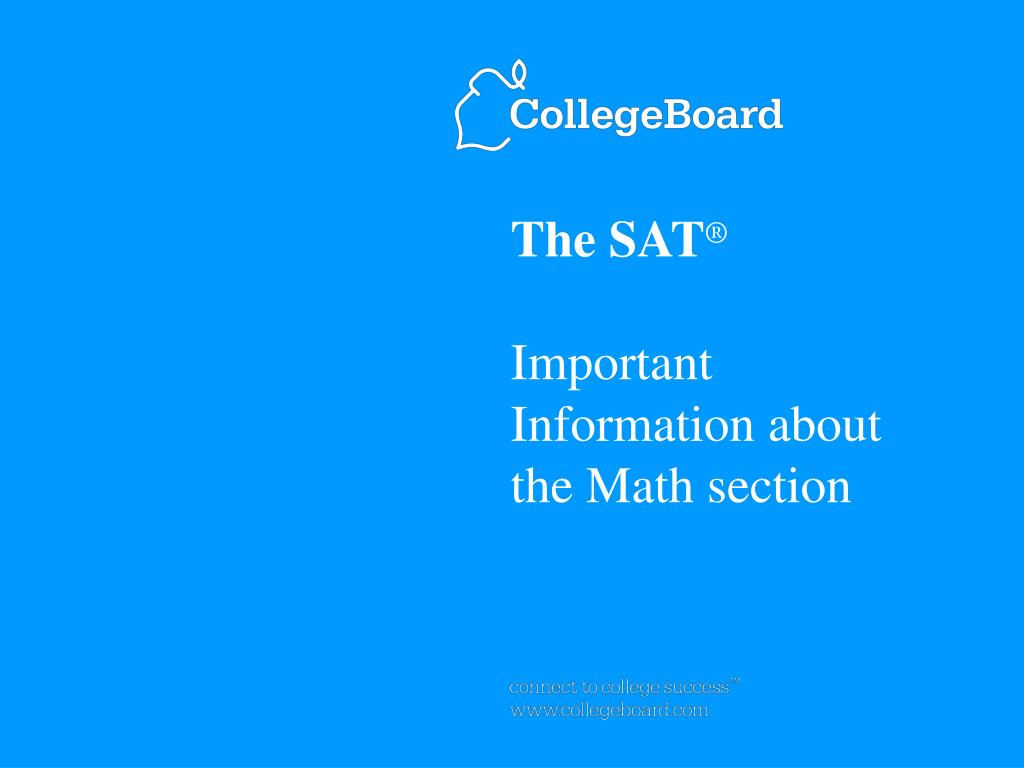 the sat important information about the math section l.