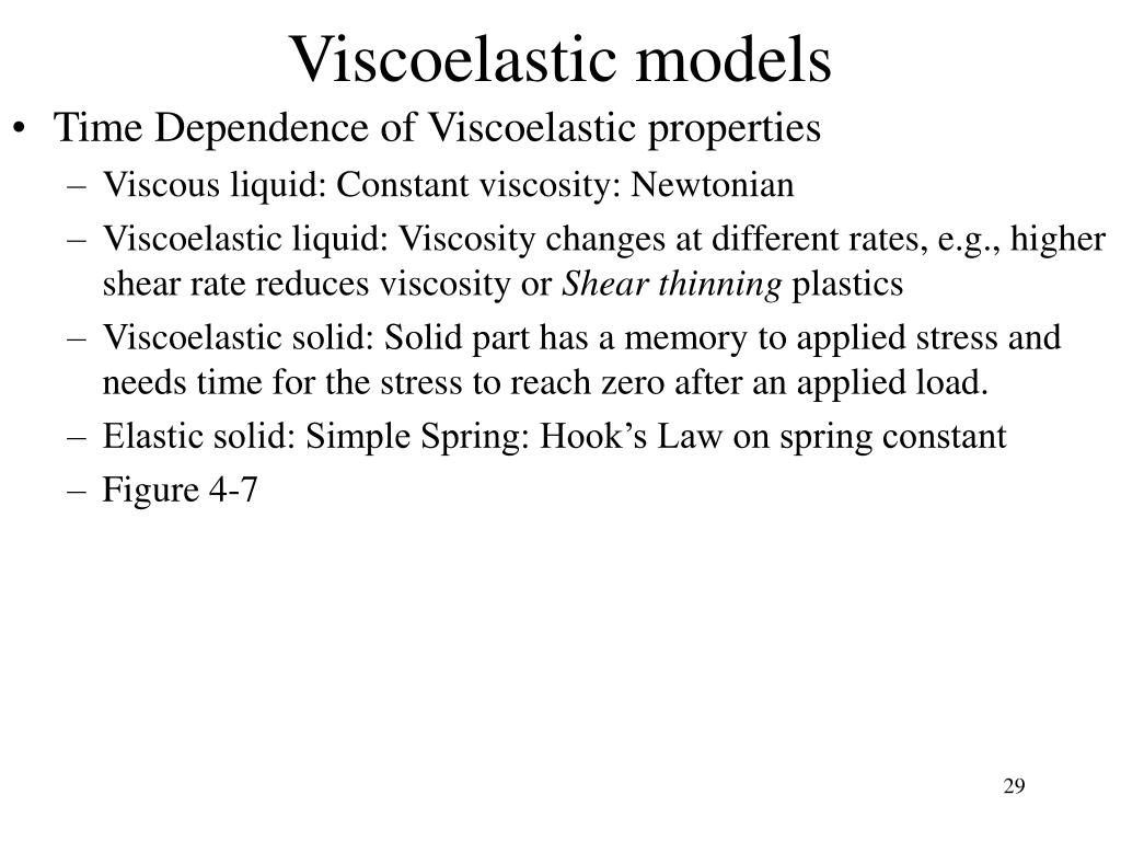 Viscoelastic models