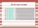 32 bit real number