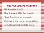 internal representations