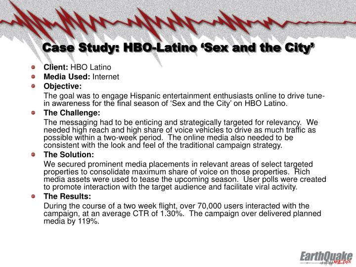 Case Study: HBO-Latino 'Sex and the City'