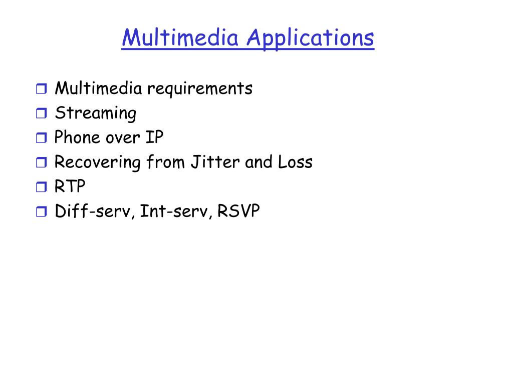 multimedia applications l.
