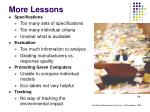 more lessons