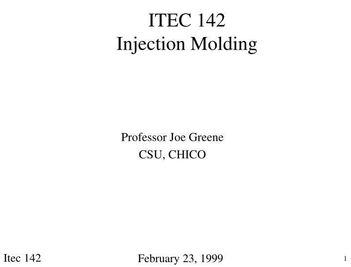 itec 142 injection molding n.