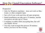 how do i install encryption software