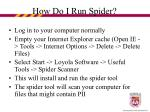 how do i run spider