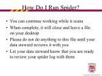 how do i run spider18