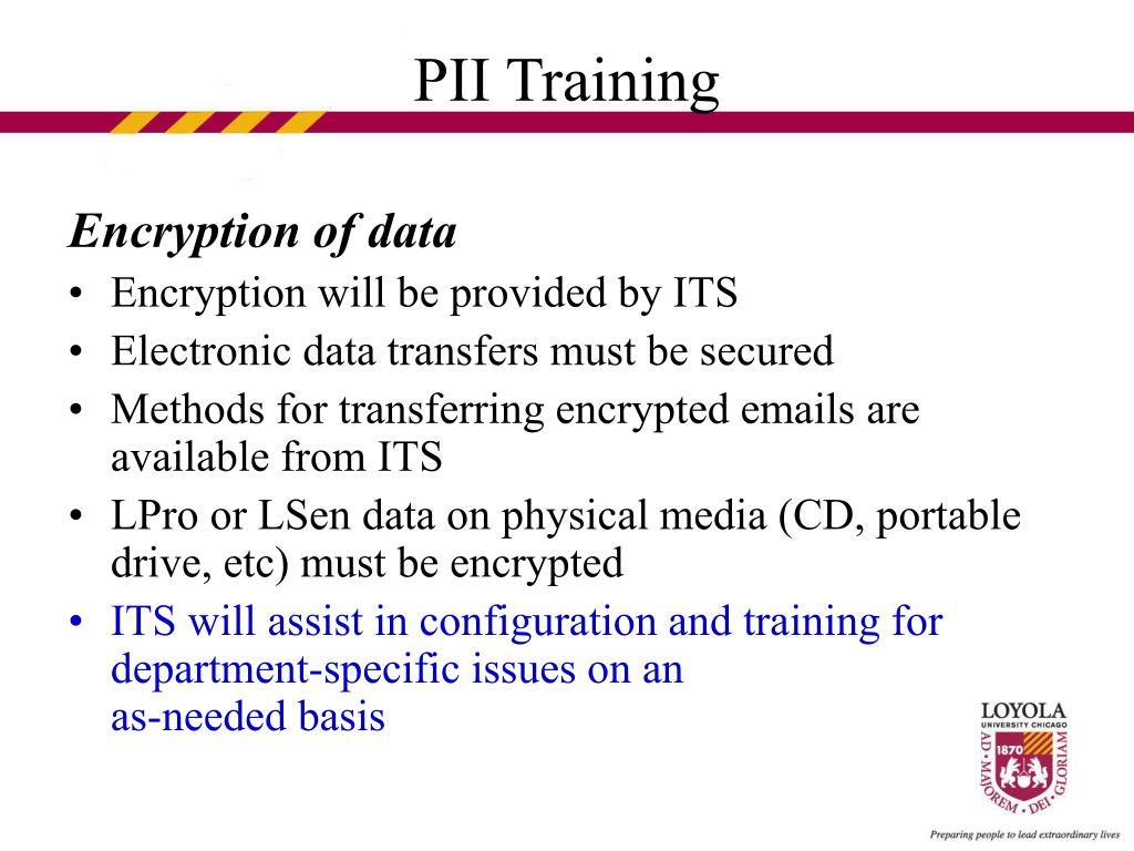 Encryption of data