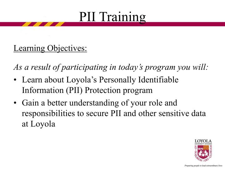 Pii training3