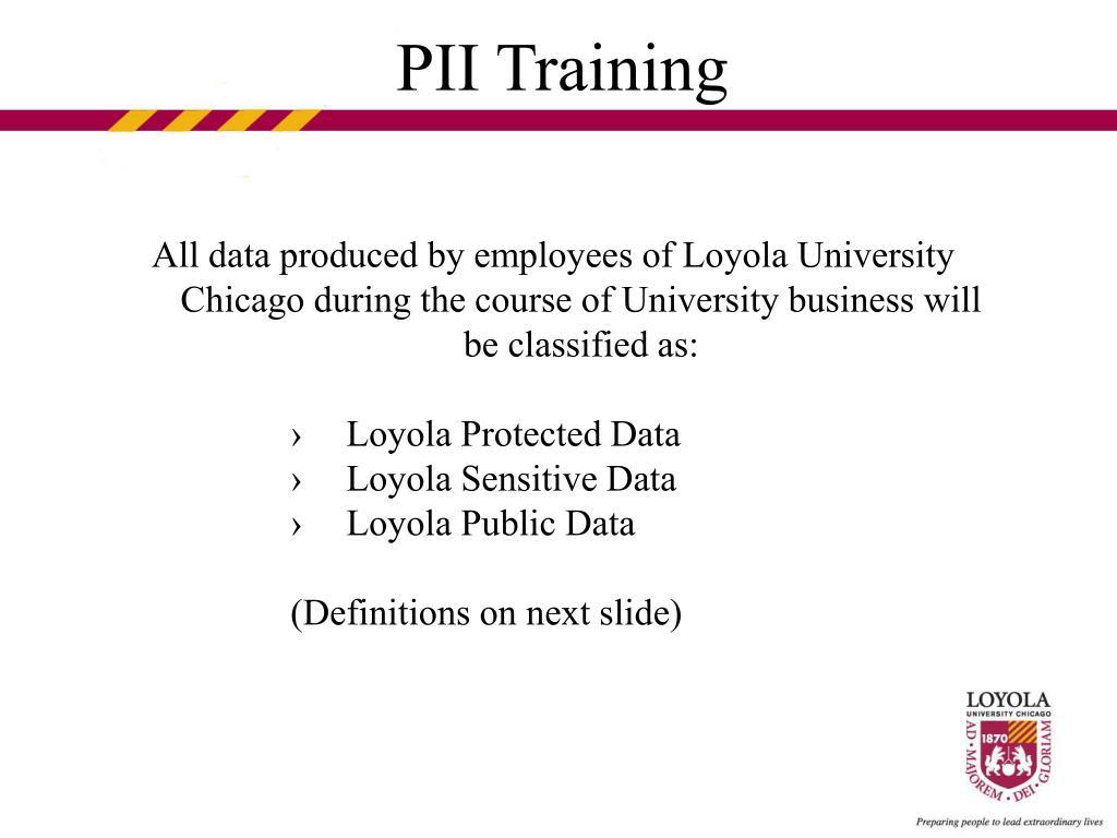 PII Training