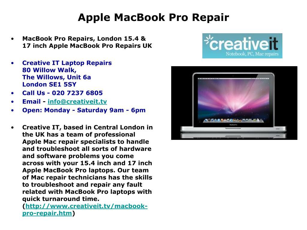 apple macbook pro repair l.