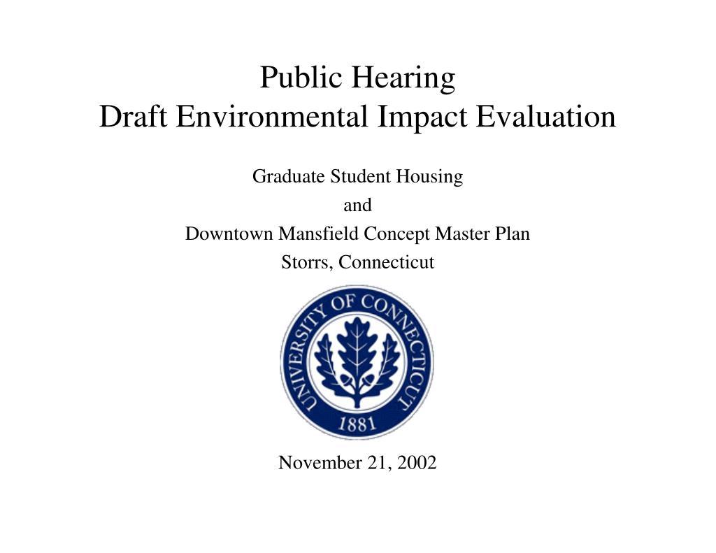 public hearing draft environmental impact evaluation l.