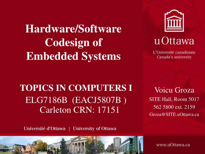 hardware software codesign of embedded systems n.