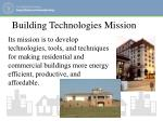 building technologies mission