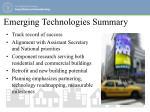 emerging technologies summary