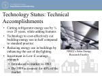 technology status technical accomplishments