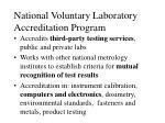 national voluntary laboratory accreditation program