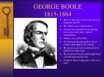george boole 1815 1864