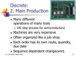 discrete 2 main production