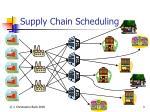 supply chain scheduling