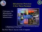 infrastructure protection a new threat paradigm