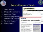 potential sources of attacks