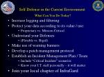 self defense in the current environment what can you do today