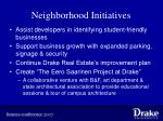 neighborhood initiatives