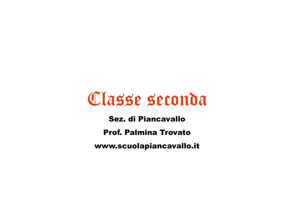 Classe seconda