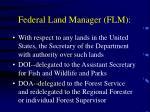 federal land manager flm