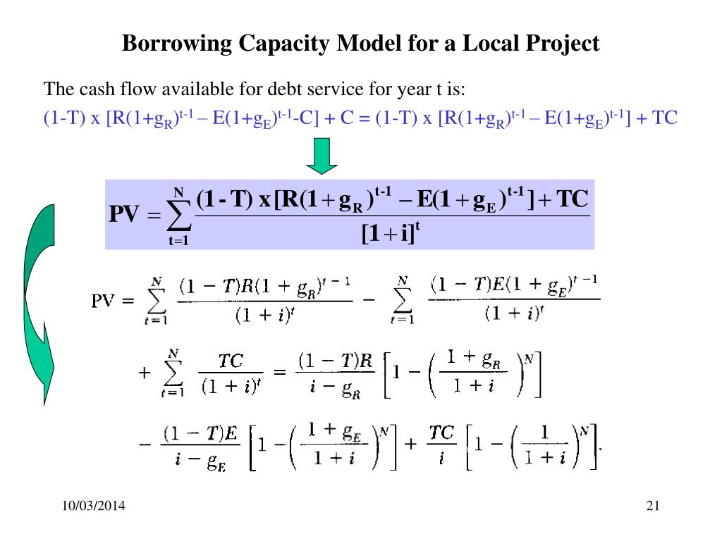 Borrowing Capacity Model for a Local Project