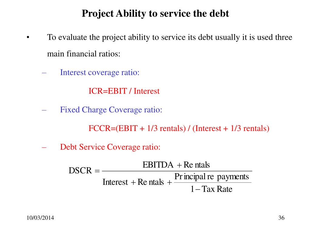 Project Ability to service the debt