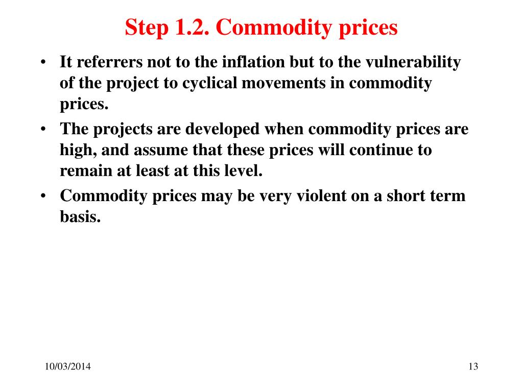 Step 1.2. Commodity prices