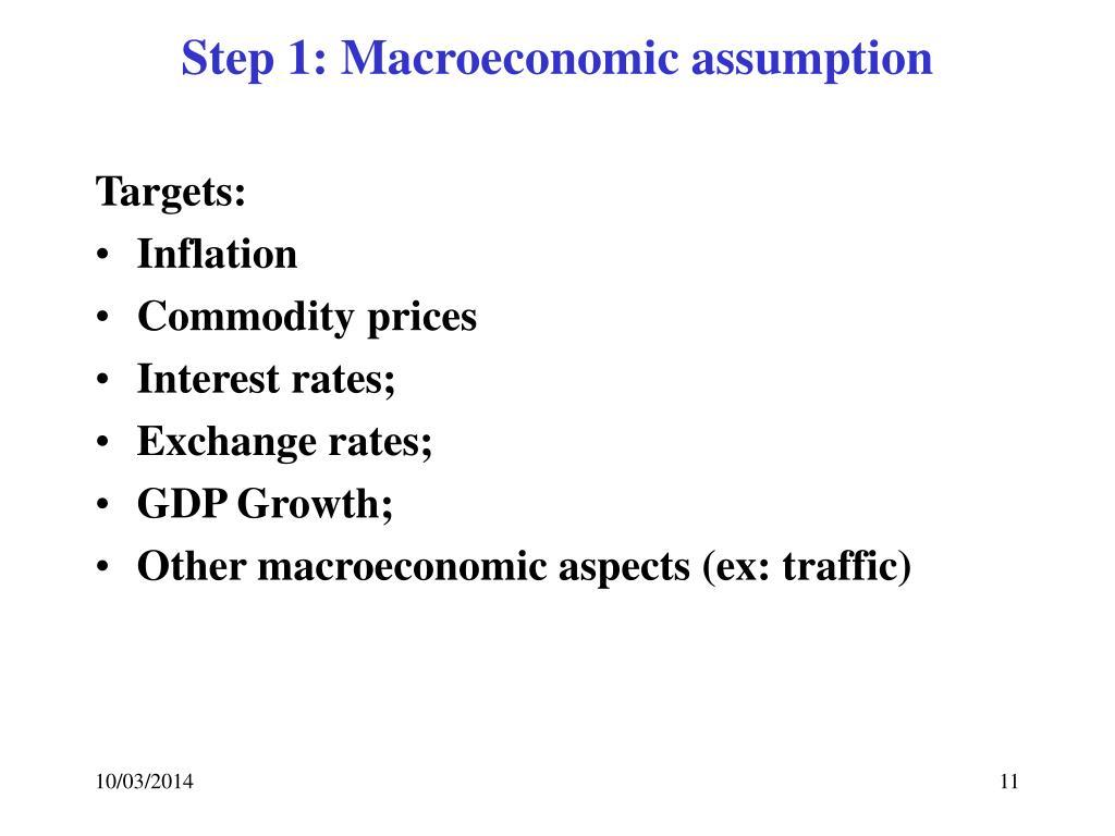 Step 1: Macroeconomic assumption