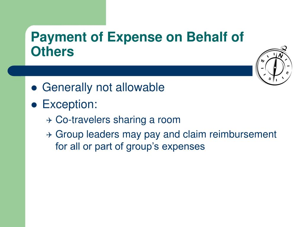 Payment of Expense on Behalf of Others