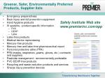 greener safer environmentally preferred products supplier lists