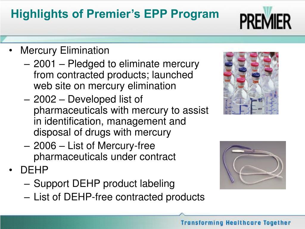 Highlights of Premier's EPP Program