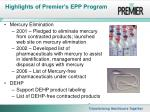 highlights of premier s epp program