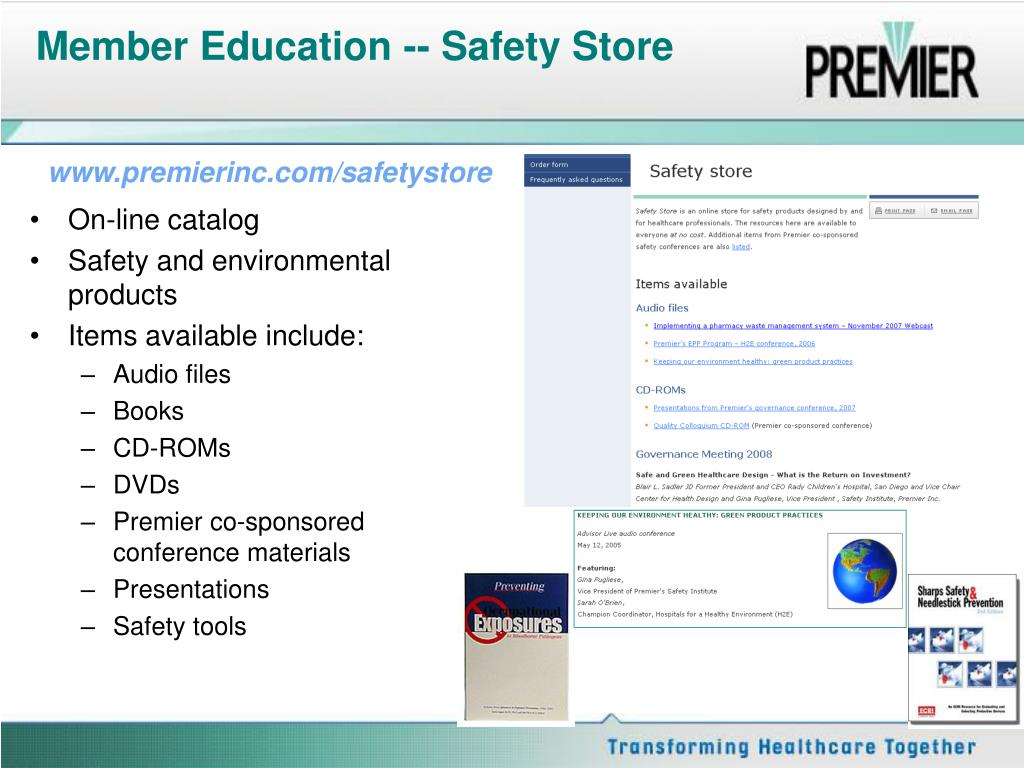 Member Education -- Safety Store