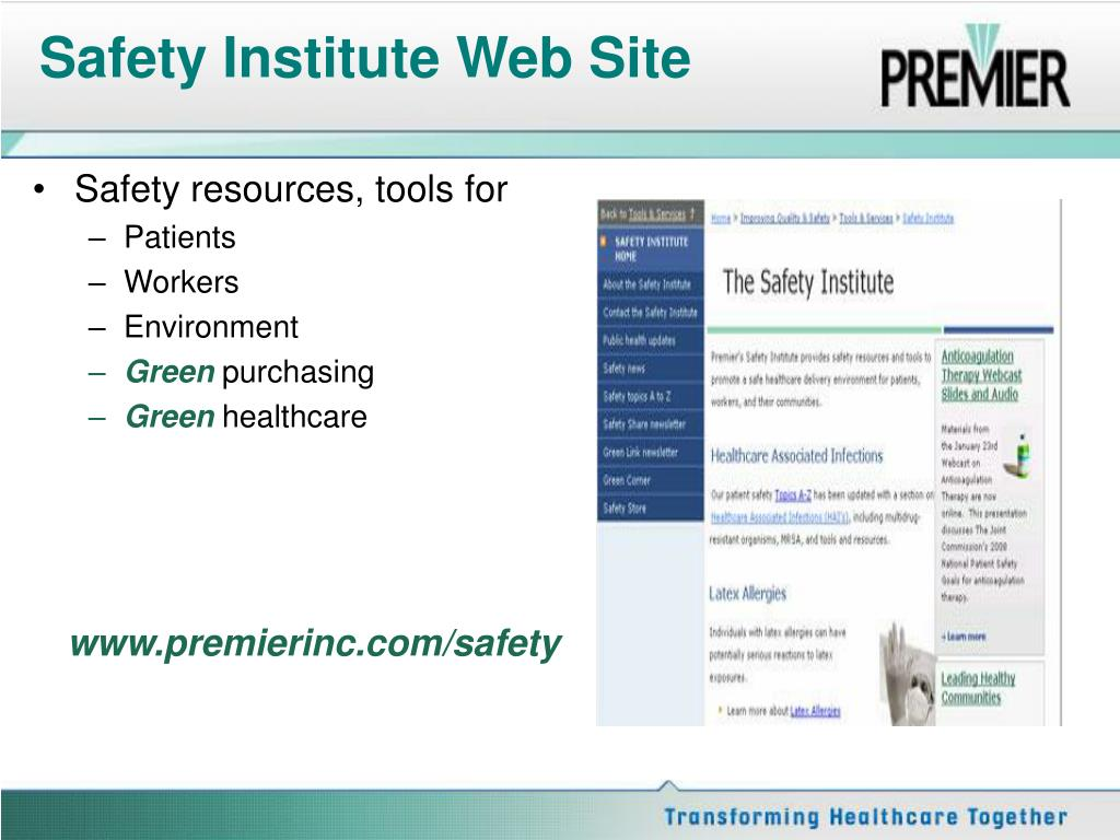 Safety Institute Web Site