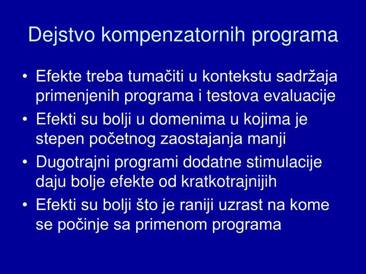 Dejstvo kompenzatornih programa