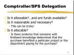 comptroller sps delegation