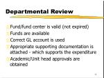 departmental review