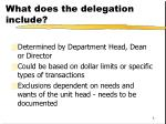 what does the delegation include