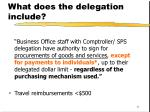 what does the delegation include11