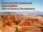 exploring utah geothermal opportunities how to finance development