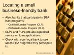 locating a small business friendly bank8
