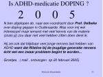 is adhd medicatie doping